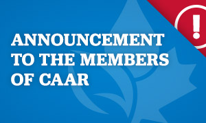 Announcement to the Members of CAAR
