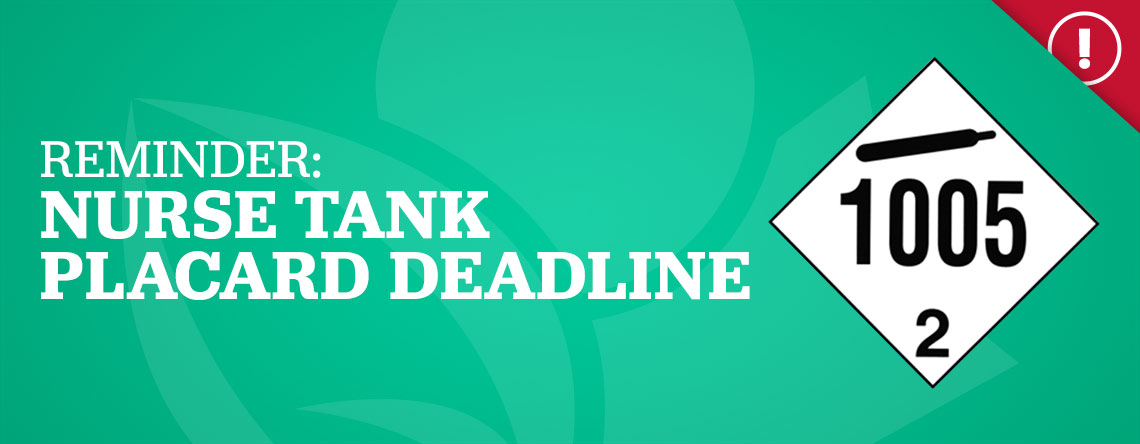 Reminder: Nurse Tank Placard Deadline
