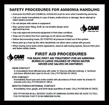 Safety Procedures/First Aid Procedures