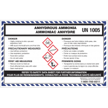 WHMIS Anhydrous Ammonia Decal
