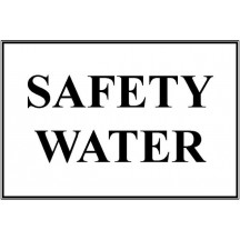 Safety Water Decal