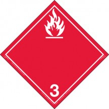 Hazard Class 3 - Flammable Liquid Decal