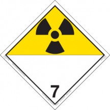 Hazard Class 7 - Radioactive Decal